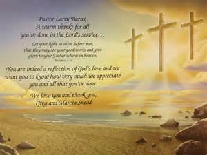 Pastor Appreciation Poems Thank You