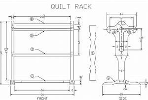 FREE HOME PLANS - FREE FLOOR STANDING QUILT RACK PLANS