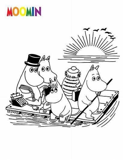 Coloring Cartoon Pages Moomin Moomins Printable Sheets