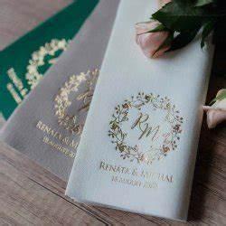 Servietten Bedrucken Hochzeit : hochzeitsservietten die sch nsten modelle aus stoff papier ~ Watch28wear.com Haus und Dekorationen