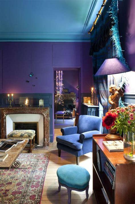 chambre bleu violet 1001 idées pour la décoration d 39 une chambre bleu paon