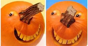 Comment Faire Une Citrouille Pour Halloween : 1 sculpture de fruit et l gume comment faire une citrouille souriante pour l 39 halloween ~ Voncanada.com Idées de Décoration