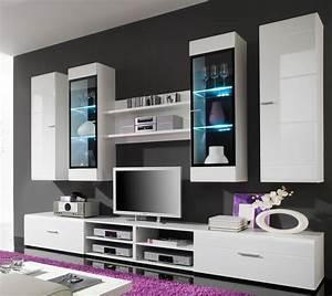 Moderne Wohnzimmer Schrankwand : schrankwand wei hochglanz deutsche dekor 2018 online kaufen ~ Markanthonyermac.com Haus und Dekorationen