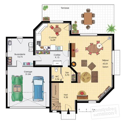 plan de cuisine en 3d gratuit maison aux volumes asymétiques dé du plan de maison