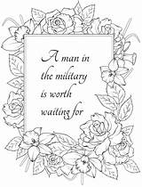 Coloring Husband Wife Notes Military Soldier sketch template