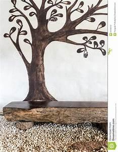 Baum An Wand Malen : malen sie wand mit braunem baum stockbild bild von felsen dekorativ 51978747 ~ Frokenaadalensverden.com Haus und Dekorationen