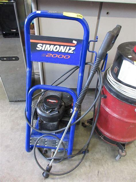 simoniz s2000 pressure washer used