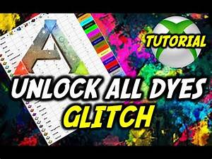 Dye Chart Ark Ark Survival Evolved Dye Painting Glitch All Colours