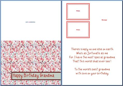birthday card template birthday cards templates word
