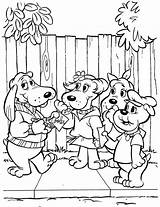 Coloring Pound Puppies Printable Sheets Adult 1980s Poundpuppies sketch template