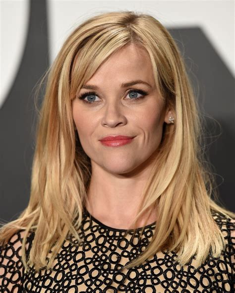 reese witherspoon medium straight cut  bangs