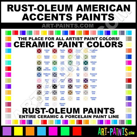 rust oleum accents american paints paint ceramic chart colors ceramics duplicolor tile detroit