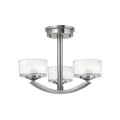 nickel semi flush ceiling lights art deco low ceiling light fitting brushed nickel with 3