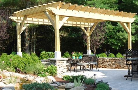 wooden patio shade structures pergola and patio cover kingston ma photo gallery landscaping network