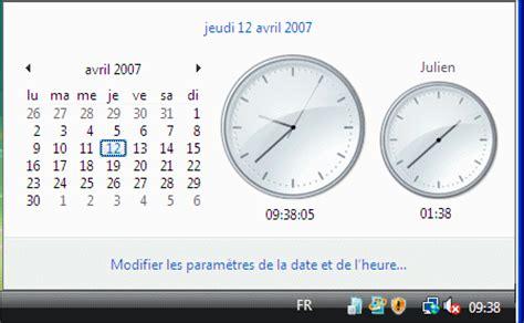 horloge bureau windows xp afficher plusieurs horloges windows vista