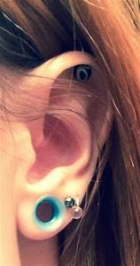 0 Gauge Silicone Tunnels Baby Blue Gauges  I Want This