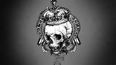 Grey Vector Skulls Background Crowns Gray Wallpapers