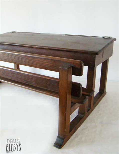 bureau moulin roty pupitre bois vintage avec encriers grand modèle pour
