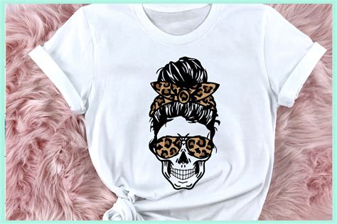Buy and sell messy bun svg at the best price. Leopard Mom Skull svg, Messy Bun Skull, Layered mom skull ...