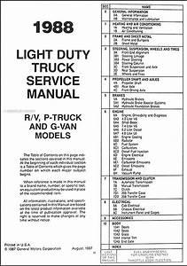 1988 Chevy Truck Repair Shop Manual Original Pickup Blazer