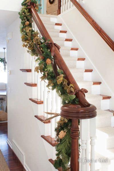 stairway garland stair garland holidays pinterest