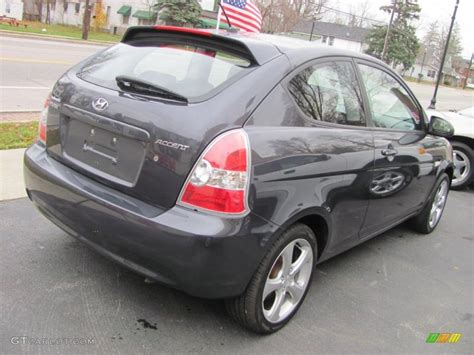 2007 Hyundai Accent Se by Charcoal Gray 2007 Hyundai Accent Se Coupe Exterior Photo