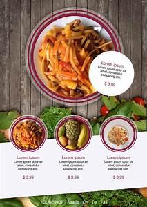Free Leaflet Template Speisekarten Und Menükarten Restaurant Food Flyer