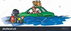 Car Flooded Stock Vector Illustration 21896752 : Shutterstock