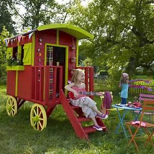 Maison Enfant Castorama : maisonnette en bois roulotte castorama dans le jardin ~ Premium-room.com Idées de Décoration