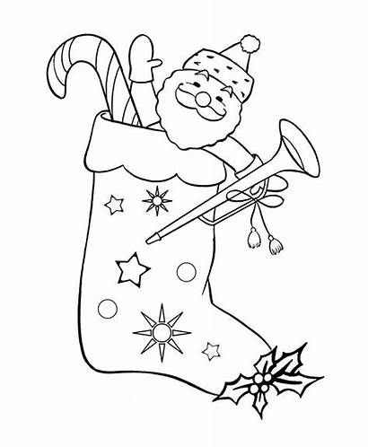 Santa Claus Coloring Colouring Pages Funny Template