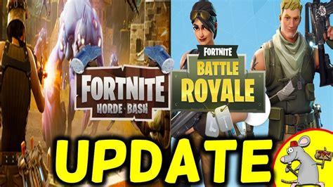 fortnite update battle royale duos supply drops horde