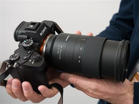 tamron 28 75mm f 2 8 di iii rxd lens at cp show 2018 sony rumors
