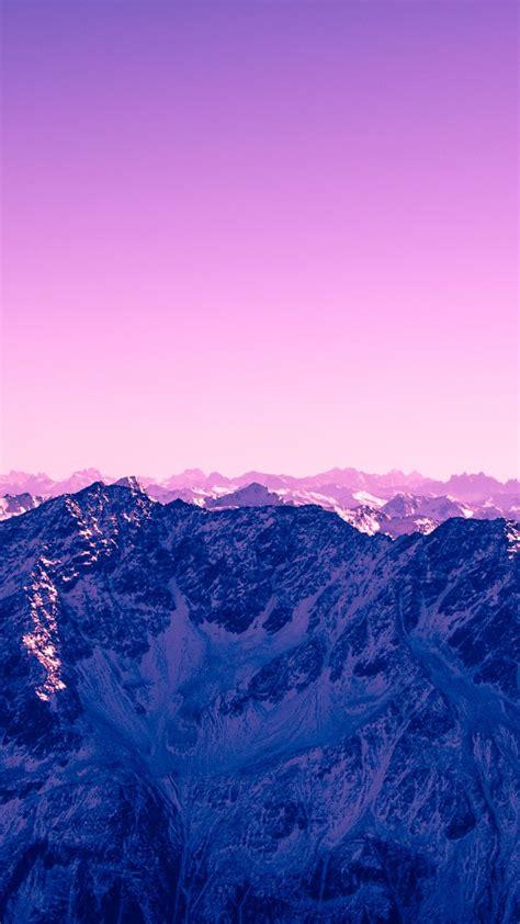 wallpaper mountains pink hd nature  wallpaper