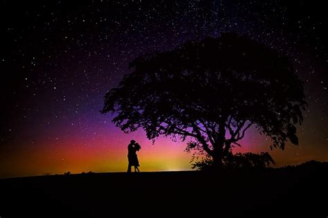 illustration lovers romance starry sky