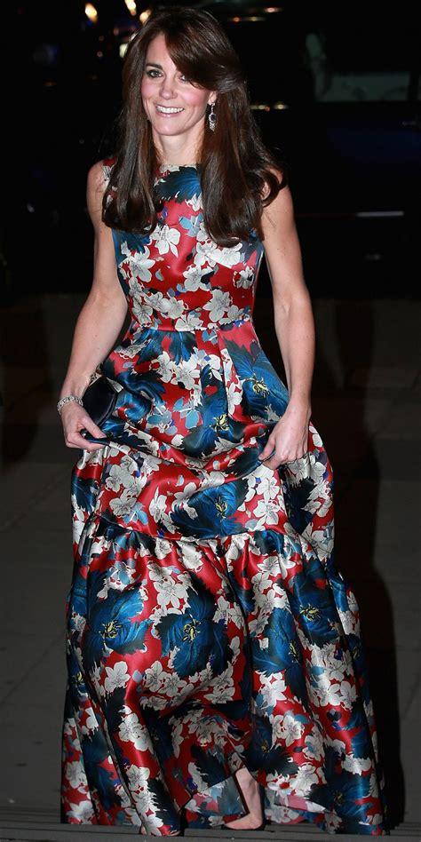 kate middleton wears  floral erdem gown   women