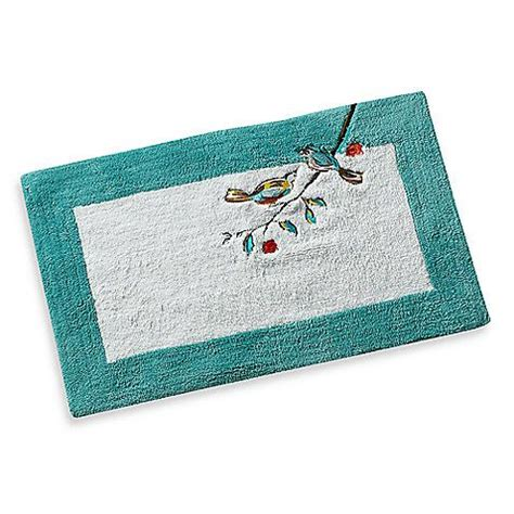 simply fine lenox chirp  cotton bath rug cotton