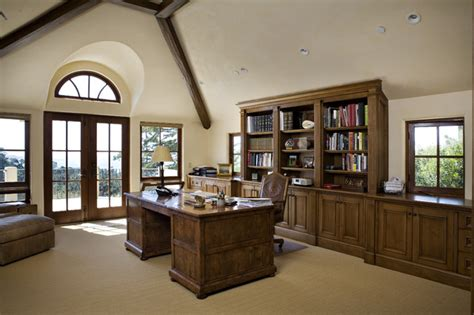 home office lighting ideas office desk with bookcase and shelving home office