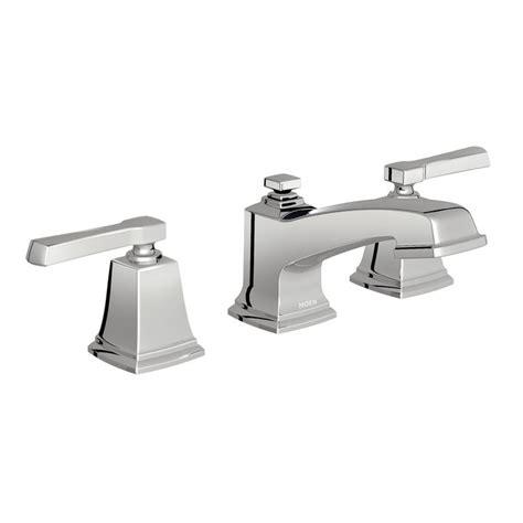 moen boardwalk chrome 2 handle widespread watersense bathroom sink fa