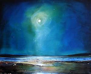 Moonlight Flyby Painting by Toni Grote