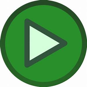 Green Plain Play Button Icon Clip Art at Clker.com ...