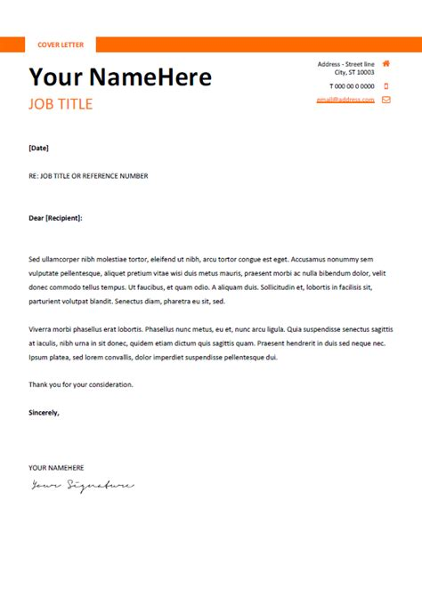 Simple Cover Letter Template Montjuic Clean And Simple Resume Template