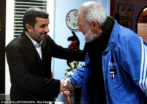 US enemies Iran's Ahmadinejad and Cuba's Castro cosy up in ...