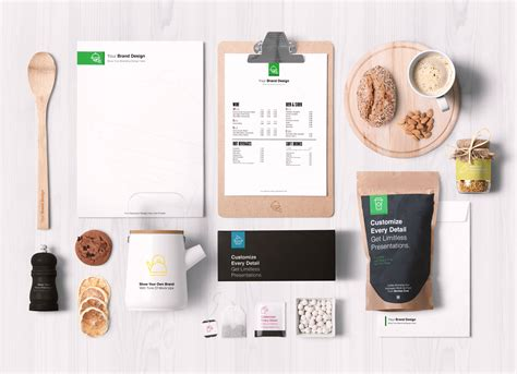 Do you need some special templates for your business? Free Premium Food Packaging & Branding Mockup PSD - Good ...