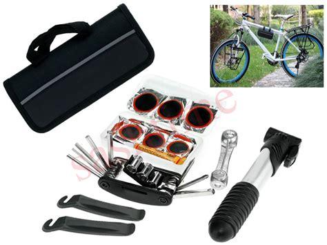 Bike Cycle Bicycle Tool Kit Carry Case Saddle Bag Pump