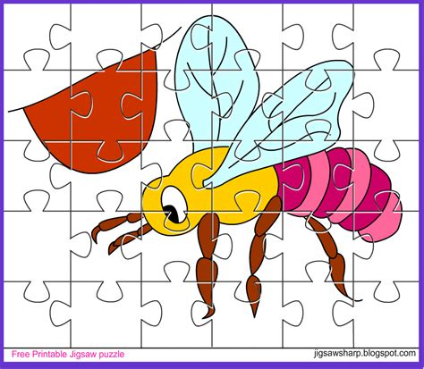 free printable jigsaw puzzle bee jigsaw puzzle