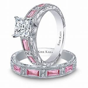 Pinky pearl unique pink diamond rings for Wedding ring with pink diamonds
