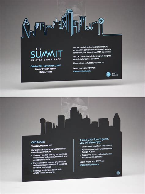 We made these black acrylic invitations for an AT&T event