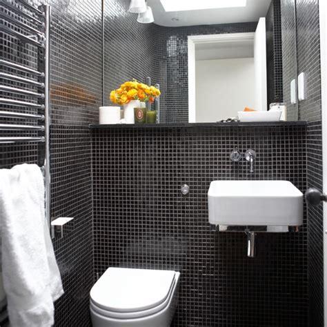 black tile bathroom ideas mosaic tiled bathroom black and white bathroom designs
