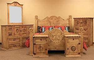 LMT Country Rope And Star Rustic Bedroom Set With