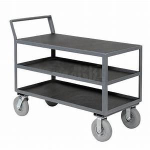 Heavy duty 3 tier utility cart Industrial transport tool ...
